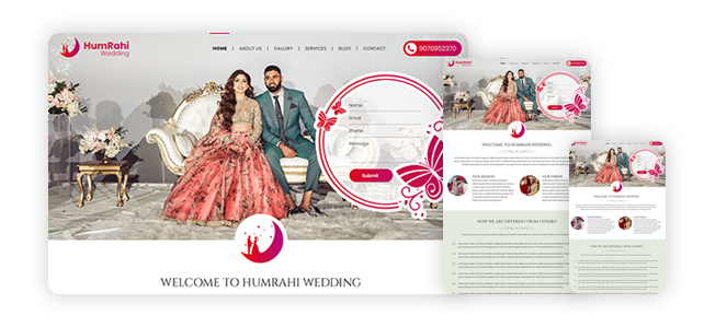 Humrahi Wedding – Web Design and Development